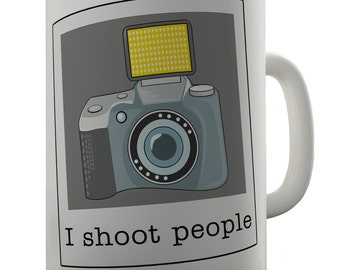 Shoot People Camera Ceramic Tea Mug
