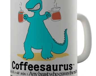 Coffee Saurus Dinosaur Ceramic Tea Mug