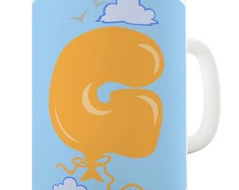 Letter G Alphabet Ceramic Novelty Mug
