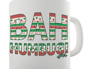 Bah Humbug Ceramic Novelty Mug