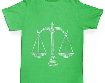 Boy's Libra Astrological sign Rhinestone T-Shirt