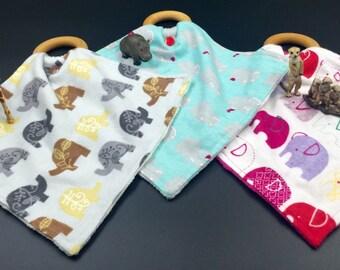 Organic Wooden Teething Ring Blankets (9 to choose from), Deer, Elephants, Hippos, Zebras, Giraffe, Owls, Duck Dynasty, Baby Teether, Maple