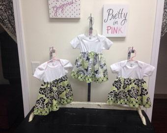 Onesie dress for girls