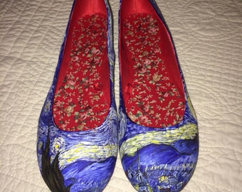 Starry Night Ballet Flats