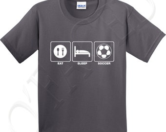 eat sleep soccer crew neck t shirts for kid eat sleep soccer kids t shirt - Soccer T Shirt Design Ideas