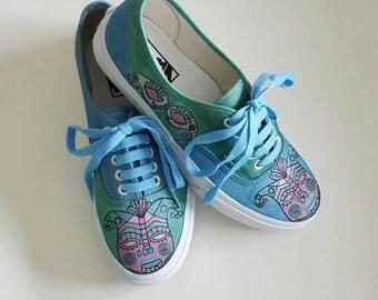 Harlequin hand painted sneakers Vans/shoes