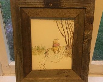 Winnie the Pooh and piglet watercolor