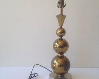 Brass ball lamp