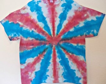 Red, White, and Blue Grunge T-Shirt Tie Dye