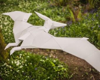 Pet Pteranodon, 3d Papercraft dinosaur Template. Printable pdf. Boys gift