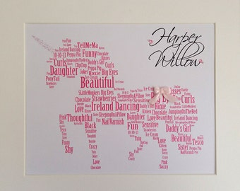 Personalized Unicorn Framed Print