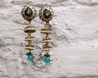 Indian Handmade Lavani droplet earrings