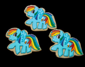Rainbow Dash My Little Pony Cookies
