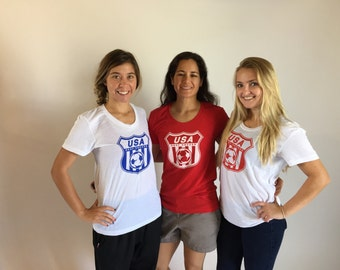 """Surprise Me! Limited Edition """"USA Logo""""- US Deaf World Cup T-Shirt"""