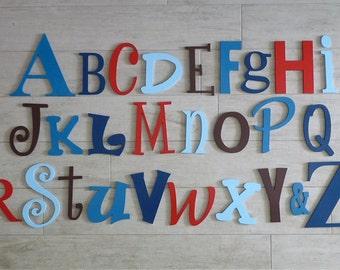 Alphabet letter Set, Alphabet wall art, kids wooden letters, Letters for walls, Bedroom decor