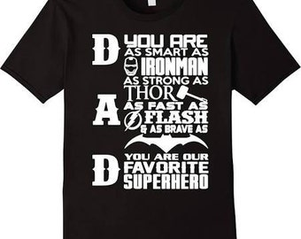 Daddy is My Super hero Daddy T Shirt Fathers Day t Shirt