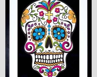 Art Print - Skull Decorative Day Dead Mexico Art Poster FEVE066B