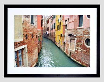 Photo Canal Venice Buildings Art Print Poster Picture FEBMP074B