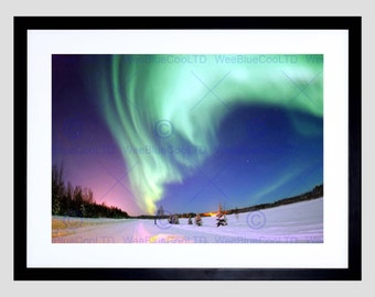Photo Aurora Borealis Northern Lights Winter Poster Print FEBB3041B