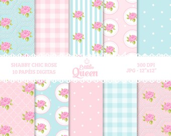 Digital Scrapbook Shabby Chic Floral scrapbook background Flower