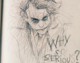 Joker from Batman Dark Knight Rises Pencil Drawing