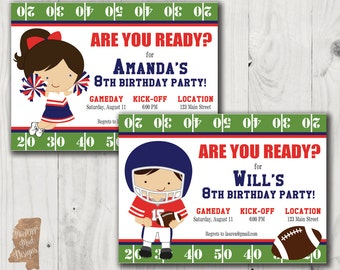 Birthday Invitation - Ole Miss Football Player or Cheerleader