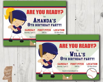 Birthday Invitation - Ole Miss Baseball / Softball Player