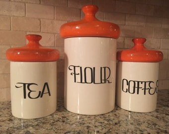 Vintage Ceramic Kitchen Canisters