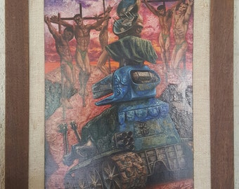 "John Foote Jr 1962 ""Triumph of the Machine"" Oil Painting"