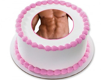 Edible Cake Topper - Hunky Man