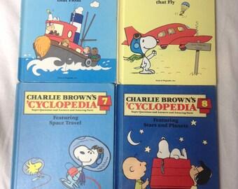 Vintage 1980s Charlie Brown Cyclopedias