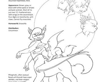 Peltedverse Coloring Page: the Glaseah