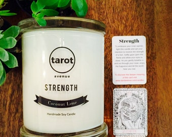 Strength - Tarot Candle - Coconut Lime