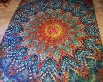 Tie dyed queen size sheet