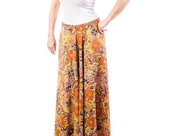 Paisley Print Full Length Skirt - 15-061