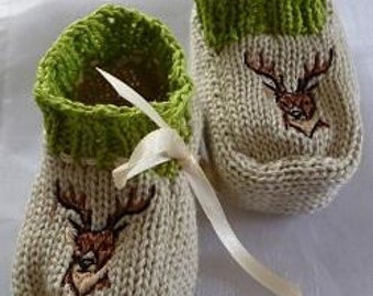 "Baby shoes ""Deer"""