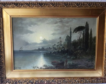 Night in Istambul oil painting