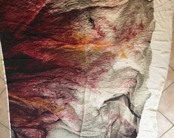 Pattern on silk