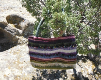 Large Olive Green Felted Purse