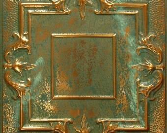 Vintage Tin Ceiling Tile Copper Patina