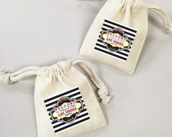 24 Pcs. Vegas Wedding Favor Bags (PVGBLM45)