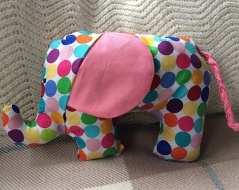 Handmade sensory elephant toy