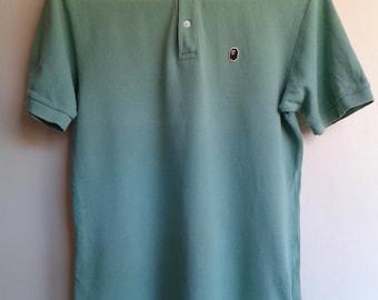 Bape OG Green Polo Shirt size Medium