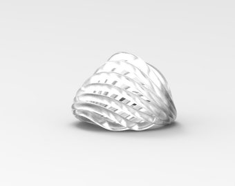 Clear | 3D Printed 'Oyster Ring'