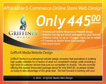 Professional E-Commerce Online Store with up to 12 pages - Mobile Responsive Website Design, WordPress, Blog, Web Design