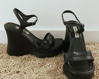 90s Steve Madden Platform Wedge Sandals