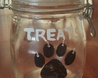 Hand Painted Pet Treat Jar
