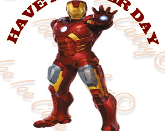 Iron Man 8 Inch Round Topper