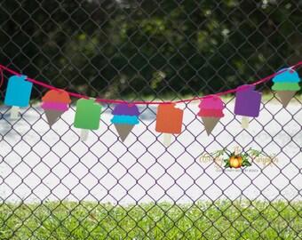 Ice Cream Banner, Popsicle Banner, Sweet Shoppe Birthday Banner
