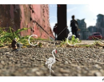 Betty @ Vauxhall Bridge - Limited Edition Giclee Print - By CCCreations - Photography -Miniature People -Miniature Worlds